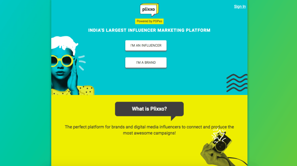 influencer marketing platforms in India - Plixxo