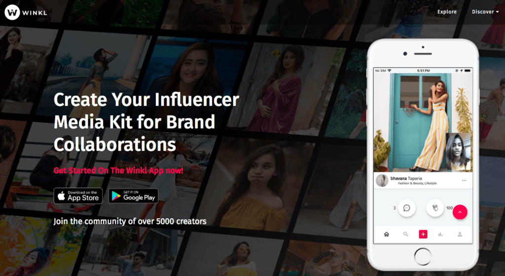 influencer marketing platforms in India - Winkl
