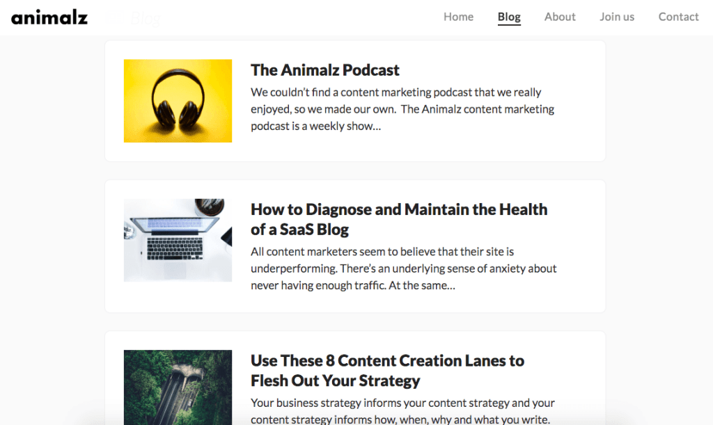 content marketing blog - Animalz