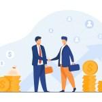 Entrepreneurs closing deal- meeting room