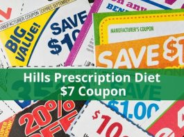 Hills Prescription Diet $7 Coupon