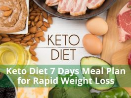 Keto Diet 7 Days Meal Plan for Rapid Weight Loss