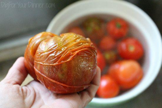 how to peel tomatoes