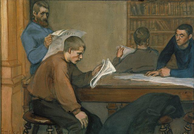 """""""Reading Room"""", Magnus Enckell"""