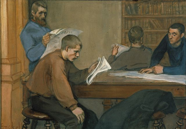"""Reading Room"", Magnus Enckell"