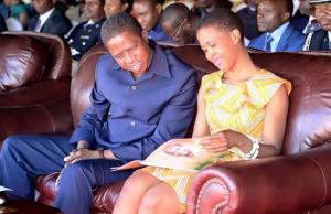 President Lungu with his daughter Tasila Lungu: File picture