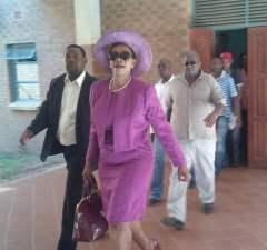 Former Chongwe Mp Sylvia Masebo at masebo at court