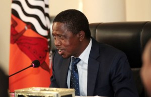 President Edgar Lungu at State House during a meeting-Picture by Tenson Mkhala