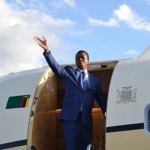 President Lungu at the airport