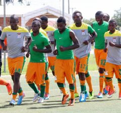 Chipolopolo senior team local players in training-picture by Tenson Mkhala