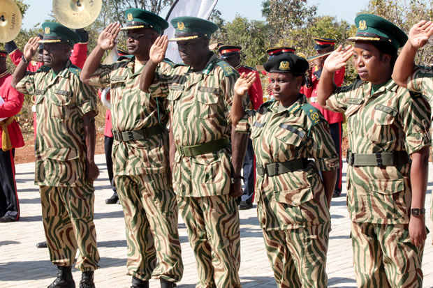 ZAWA officers during the official opening of Lusaka National Park by President Edgar Lungu-Picture by Tenson Mkhala