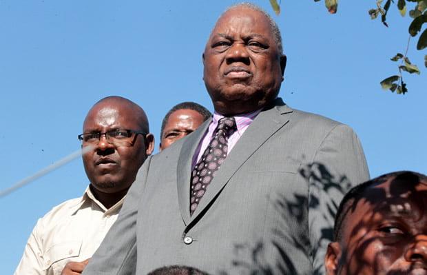 Former president Rupiah Banda in Lusaka-Picture by Tenson Mkhala