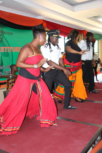 Amayenge dance troop perform in Lusaka-Picture by Tenson Mkhala