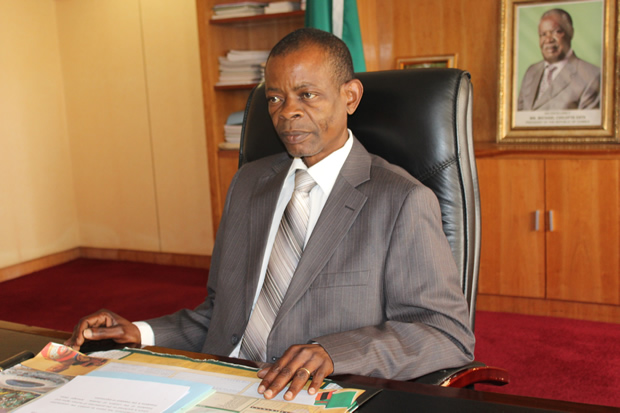 Former minister Joseph Katema in Lusaka-picture by Tenson Mkhala