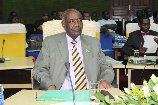 Veteran Politician Venon Mwaanga at Mulungushi International Conference Center in Lusaka-Picture by Tenson Mkhala