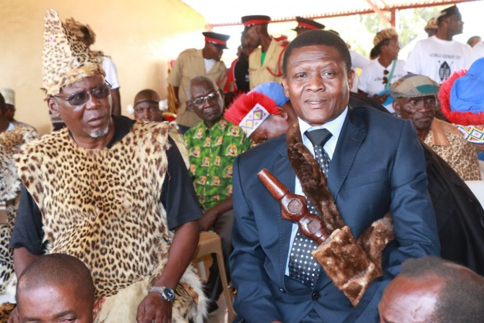 Senior Chief Mwata Kazembe of the Lunda people in Chipata-Picture by Tenson Mkhala