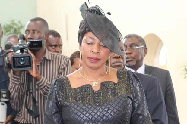 Regina Chiluba at St Ignatius Catholic Church in Lusaka-Picture by Tenson Mkhala