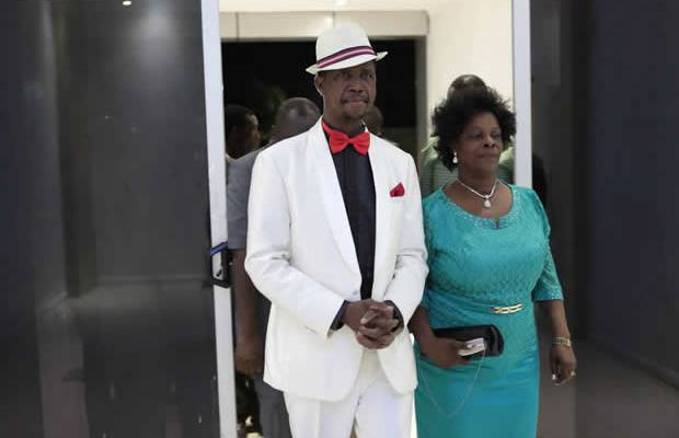 President Edgar Lungu with wife Esther