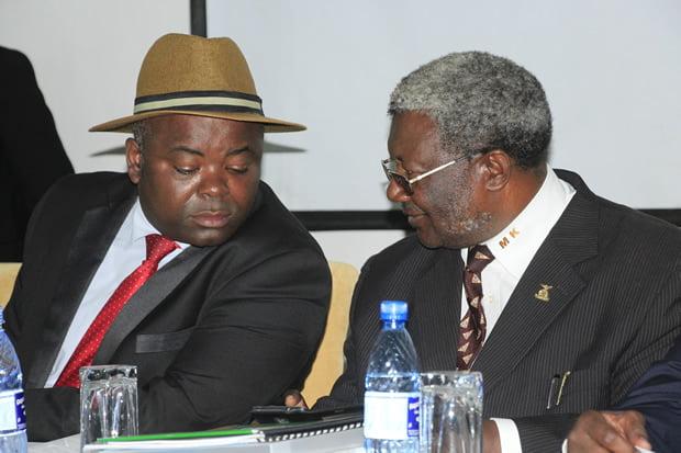 Former deputy sports minister Ronald Chitotela with Kalenga Mwambain Kitwe-picture by Tenson Mkhala