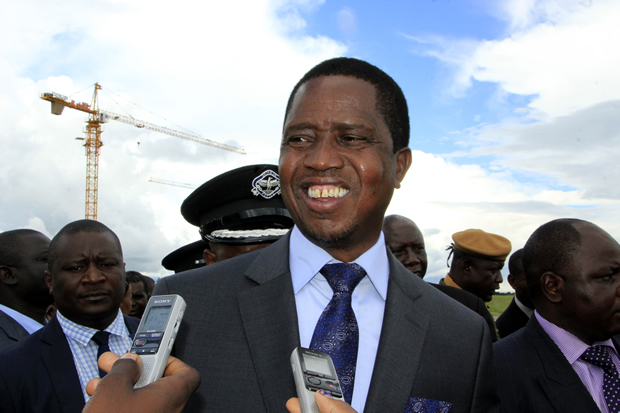 President Lungu speaks to journalist in Lusaka-picture by Tenson Mkhala