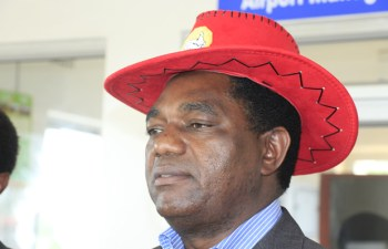 UPND Leader Hakainde Hichilema in Lusaka-picture by Tenson Mkhala