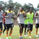 Chipolopolo team in training at Independence Stadium in Lusaka - picture by Tenson Mkhala