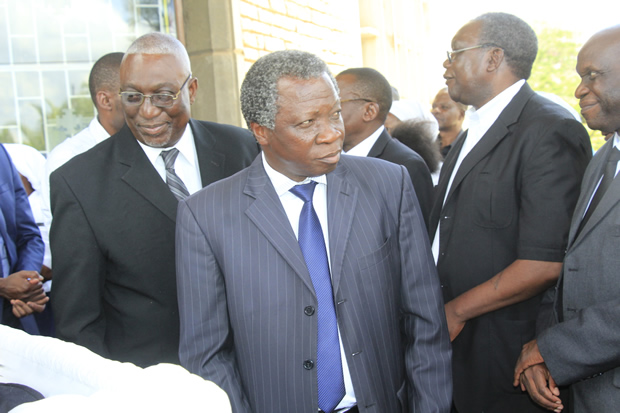 Peoples Party leader Mike Mulongoti at Cathedral of the Holy Cross-Picture by Tenson Mkhala
