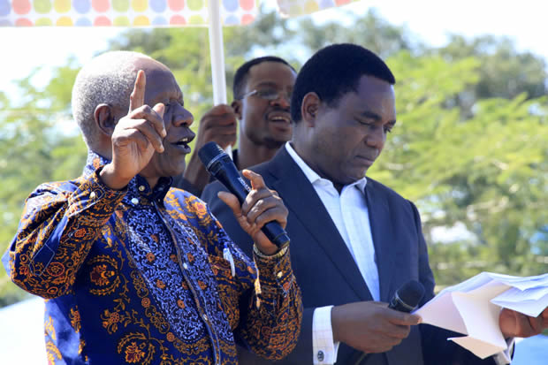UPND Leader Hakainde Hichilema with William Banda in Lusaka-Picture by Tenson Mkhala