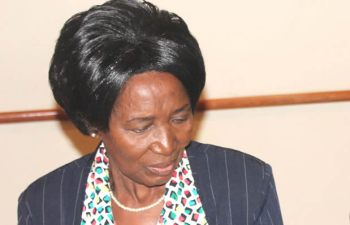 Vice president Inonge Wina at her office in Lusaka-Picture by Tenson Mkhala