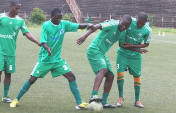Green Buffaloes players in training in Lusaka-picture by Tenson Mkhala