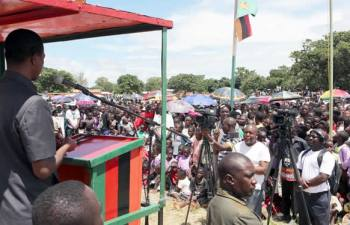 President Lungu addressing Samfya residents on 10th February 2017 : File picture