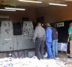 Police dismantle printing press at Dr Fred M'membe's residence