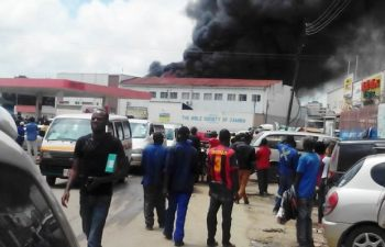 Bible Society building burning: File picture