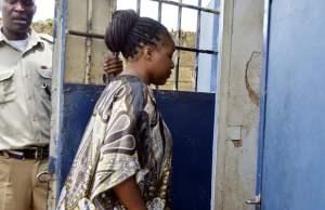 Oracle Media proprietor Mutinta Mazoka being taken to police cells at Kabwata Police Station in Lusaka-Picture by Tenson Mkhala