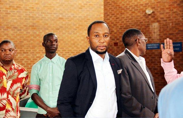 Mark Mubalama at Lusaka Magistrates Court -Picture by Tenson Mkhala