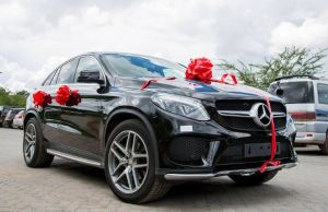 Stopilla Sunzu's Mercedes Benz gift to his wife: Picture by Jay Mumba
