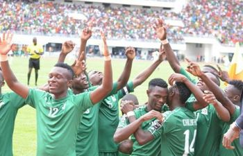 U-20 team celebrates win on Sunday - picture by FAZ