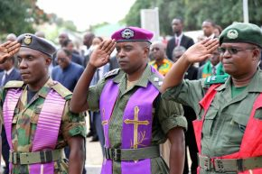 Defense and Security chaplain during Youth Day celebrations in Lusaka-picture by Tenson Mkhala