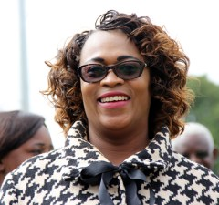 PF deputy secretary general Mumbi Phiri at the Youth Day celebrations in Lusaka-picture by Tenson Mkhala