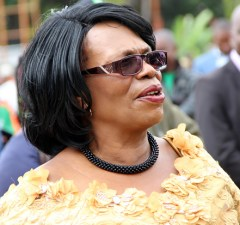 Higher Education Minister Nkandu Luo during Youth Day celebrations in Lusaka -picture by Tenson Mkhala