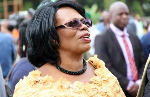 Higher education minister Nkandu Luo at the Youth Day celebrations in Lusaka-picture by Tenson Mkhala