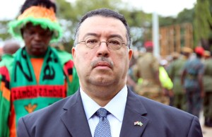 Egyptian Ambassador to Zambia Ragai Tawfik Nasr during Youth Day celebration in Lusaka-picture by Tenson Mkhala