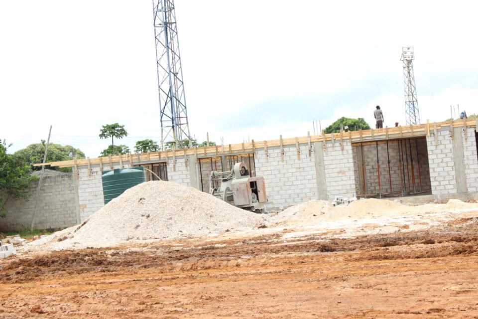 Shops being constructed at Woodlands Stadium in Lusaka-picture by Tenson Mkhala