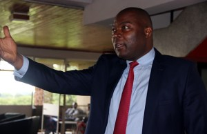 Kabushi MP Bowman Lusambo at Parliament building in Lusaka-picture by Tenson Mkhala