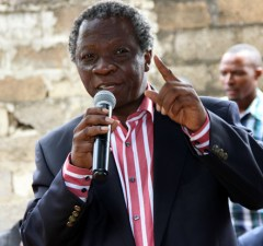 Peoples Party leader Mike Mulongoti speaks at the UPND press conference in Lusaka-picture by Tenson Mkhala