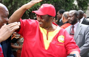 UPND vice president Geoffrey Mwamba during a press briefing in Lusaka-picture by Tenson Mkhala