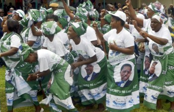 PF women march during the 2017 International Womens Day celebrations in Lusaka-picture by Tenson Mkhala