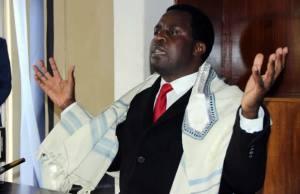 UPP leader Saviour Chishimba speaks to journalist in Lusaka-picture by Tenson Mkhala