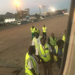 A picture Maimane took at Kenneth Kaunda International Airport before he was sent away