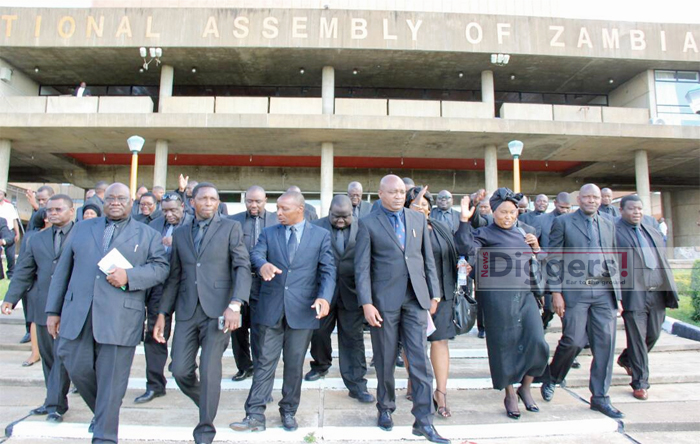 UPND MPs in black